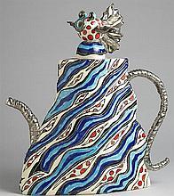 Ann-Marie Robinson TEAPOT WITH BLUE STRIPES, 2008