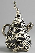 Ann-Marie Robinson SPOTS AND STRIPES TEAPOT IN BLACK AND WHITE, 2008