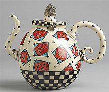 Ann-Marie Robinson TRAPPED RED ROSES TEAPOT, 2008
