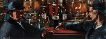 Maurice MacGonigal PPRHA HRA HRSA (1900-1979) OLD DUBLIN PUB (DAVY BYRNE'S)
