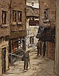 Tom Cullen (1934-2001)  CRAMPTON LANE, (OLD DUBLIN SERIES) 1984, Tom Cullen, Click for value