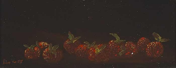 Adam Kos (b. 1956)  STILL LIFE WITH STRAWBERRIES, 1996/1997 (A PAIR)