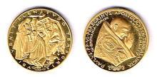 1963-78 Pope Paul VI commemorative gold medal.