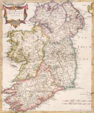 1695 The Kingdom of Ireland, by Robert Morden.