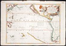 1691 Mare del Sud, detto Altrimenti Mare Pacifico, Venetian chart of the West Coast of America and Pacific Ocean.