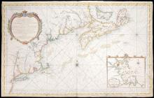 1757 Chart of the East Coast of North America, by Jacques Nicolas Bellin.