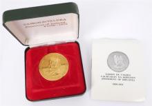 Eamon de Valera gold commemorative medal.