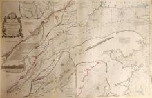 1775 Chart of St Laurence River.