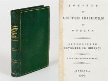 Anonymous [Tone, Theobald Wolfe and the Society of United Irishmen] Society of United Irishmen of Dublin.