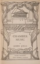 James Joyce (1882-1941) CHAMBER MUSIC, first edition of Joyce's first book