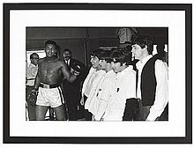 Photograph of Mohamed Ali and the Beatles