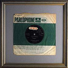 The Beatles 'Paperback Writer' factory sample and three other 45s (5)
