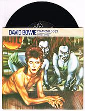 David Bowie collection of vinyl 45s