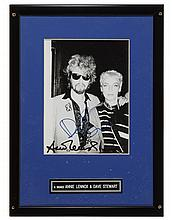 Eurythmics signed poster and photograph. (2)