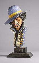 Jimi Hendrix. Sculpture by John Somerville