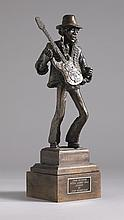 Jimi Hendrix. Sculpture by John Somerville.