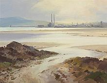 Maurice Canning Wilks RUA ARHA (1910-1984) ACROSS DUBLIN BAY FROM RED ROCK, COUNTY DUBLIN