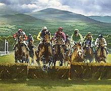 Peter Curling (b.1955) MAIDEN HURDLE, CLONMEL, COUNTY TIPPERARY