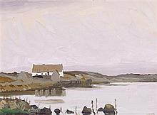 Charles Vincent Lamb RHA RUA (1893-1964) COTTAGE ON A LAKE, WEST OF IRELAND