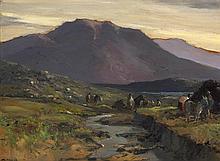 James Humbert Craig RHA RUA (1877-1944) THE TWELVE PINS, CONNEMARA