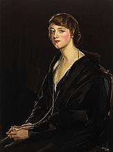 Sir John Lavery RA RSA RHA (1856-1941) PORTRAIT OF MRS E. BOWEN-DAVIES, 1923