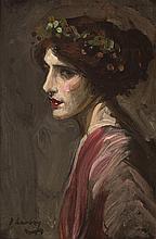 Sir John Lavery RA RSA RHA (1856-1941) PORTRAIT OF A LADY THOUGHT TO BE MRS RALPH PETO