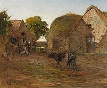 Harry Scully RHA (c.1863-1935) THE RICK-YARD, 1908