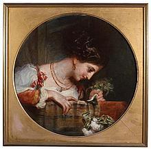 Richard Rothwell RHA (1800-1868) STELLA DI ROMA, c.1831-1834