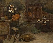 Aloysius C. O'Kelly (1853-1936) BRETON WOMEN IN A KITCHEN, 1905