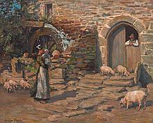 Aloysuis C. O'Kelly (1850-1929) A BRETON FARMYARD