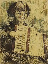 William Conor OBE RHA RUA ROI (1881-1968) GIRL PLAYING AN ACCORDION