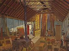 Harry Kernoff RHA (1900-1974) SUNLIT WORKSHOP, 1925