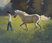 John Skelton (1923-2009) WHITE PONY, SUMMER, COUNTY MEATH, 1981