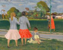 Patrick Leonard HRHA (1918-2005) WOMEN IN THE PARK