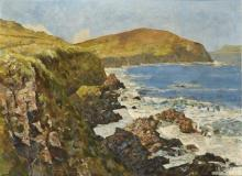 James le Jeune RHA (1910-1983) IRISH COASTLINE, A SUMMER'S DAY
