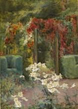 Mildred Anne Butler RWS (1858-1941) GARDEN AT KILMURRY, COUNTY KILKENNY, 1901