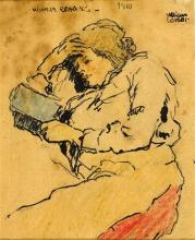 William Conor OBE RHA RUA ROI (1881-1968) WOMAN READING, 1910