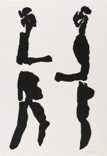 Louis le Brocquy HRHA (1916-2012) THE TÁIN. CÚCHULAINN CONFRONTING FERDIA, 1969