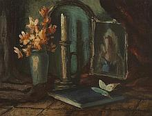 Daniel O'Neill (1920-1974) STILL LIFE WITH BUTTERFLY