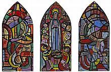 Evie Hone HRHA (1894-1955) CARTOON FOR PENTECOST WINDOW, BLACKROCK COLLEGE, COUNTY DUBLIN, c.1940