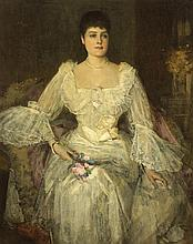 Sir John Lavery RA RSA RHA (1856-1941) A LADY IN WHITE (A PORTRAIT OF LADY LYLE)