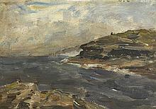Nathaniel Hone RHA (1831-1917) ROCKS AND SHORE