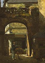 Walter Frederick Osborne RHA ROI (1859-1903) SUNSHINE AND SHADOW, [LA RUE DE L'APPORT], DINAN, 1883