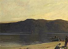 James Humbert Craig RHA RUA (1877-1944) FLUKE FISHING AT KILLYHOEY, COUNTY DONEGAL