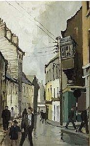 Cecil Maguire RHA RUA (b.1930) HUMANITY DICK'S WINDOW, SHOP STREET, GALWAY signed lower right; inscribed on reverse oil on board 61 by 38cm., 24 by