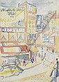 Father Jack P. Hanlon (1913-1968) BRASSERIE DUPONT, PARIS signed lower left watercolour 39 by 29cm., 15.5 by 11.5in., Jack P.
