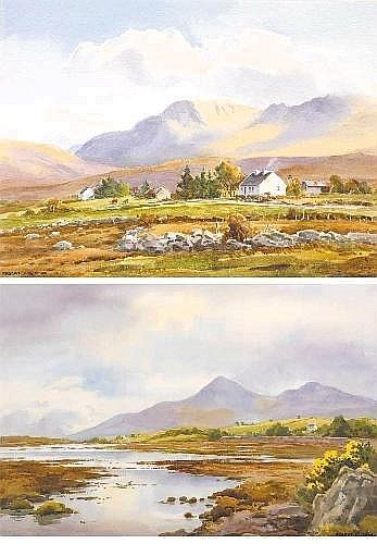 THE MOURNES, DUNDRUM, COUNTY DOWN and COTTAGE NEAR LOUISBURGH, COUNTY MAYO (A PAIR) Robert Egginton RCA (1908-1990) Signature: signed lower right