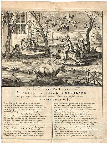 17th Century: Collection of economic bubble satirical engravings