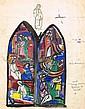 Evie Hone HRHA (1894-1955) DESIGN FOR ANDREW JAMESON WINDOW, ST. MARY'S CHURCH OF IRELAND, HOWTH, COUNTY DUBLIN