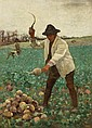 Aloysius C. O'Kelly (1853-1936) ENGLISH PEASANT CHOPPING SWEDES, c.1887-1888